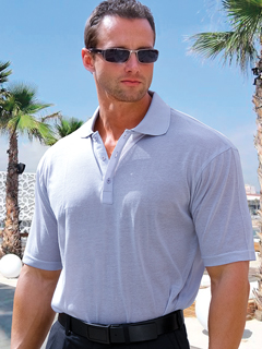 Men's Light Gray Tan-Through Polo Shirt #1090 for $44.95