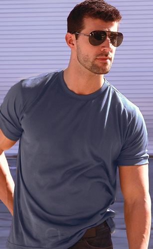 Navy Tan Through Tank Top Shirt