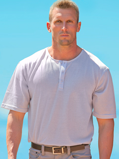 Men's Light Gray Tan-Through Shirt #2390 for $34.95