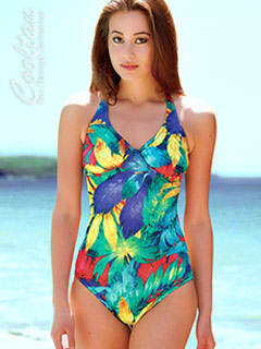 One Piece Daiquiri Rainbow Supportive Top Suit #814610 #816610