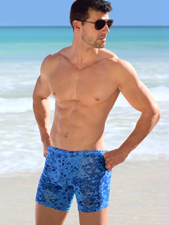 Blue Aztec Sport Shorts