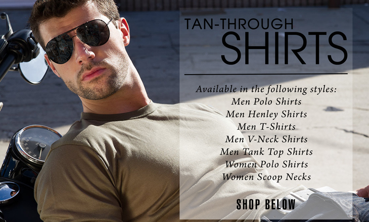 Men and Women Tan Through Thru Sport Shirts